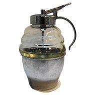 Honey Beehive Clear Glass Dispenser Pitcher Chrome Base
