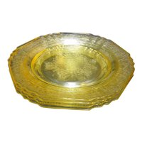 Florentine No. 1 Hazel Atlas Yellow Salad Plates Set of 4