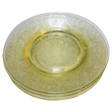Florentine No. 2 Hazel Atlas Yellow Salad Plate