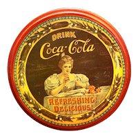 Drink Coca Cola Delicious Refreshing Tin Metal Round