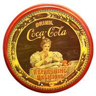 Drink Coca Cola Delicious Refreshing Tin Metal Round
