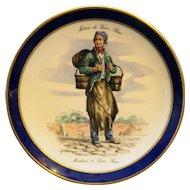 Metiers du Vieux Paris Marchand de Leaux Ferres Echt Cobalt Schumann Arzberg Plate
