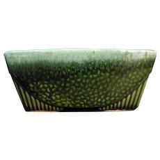 Hull Pottery Green Drip Rectangle Planter USA 75