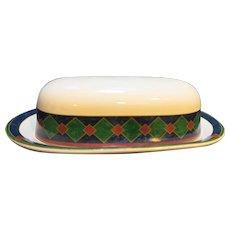 Pfaltzgraff Amalfi Mediterranean Covered Butter Dish