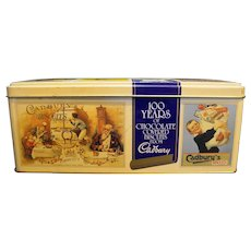 Cadburys 100 Years of Chocolate Covered Biscuits from Cadbury  Advertising Tin Rectangle Box