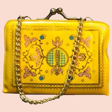 Yellow Floral Tiny Coin Change Purse Hong Kong