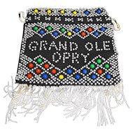 Grand Ole Opry Beaded Souvenir Purse Fringe