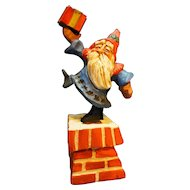 David Frykman Oh The Joy Santa Chimney Folk Art