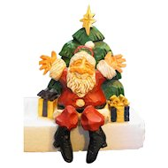 David Frykman DF 1016  Santa Shelf Sitter Christmas Tree Folk Art Figurine