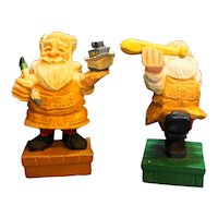 David Frykman DF 1207F 1207C Santa Christmas Folk Art Figurines