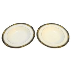 Noritake Spell Binder Rimmed Soup Bowl Pair 467445