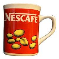 Nescafe Red White Mug Made in Japan Vintage Advertising