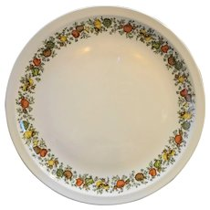 "Corning Centura Spice of Life 12"" Chop Plate Round Platter"