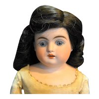 Kestner Turned Head Bisque Doll Blue Eyes Open Mouth Kid Body