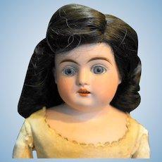 Kestner Turned Head Bisque Doll Blue Eyes Open Mouth Kid Body