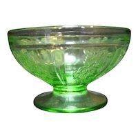 Sharon Rose of Sharon Green Depression Federal Glass Sherbet