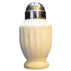 Milk Glass Ribbed Shaker Salt Pepper