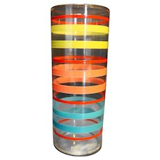 Federal Glass Fiesta Rings Lemonade Tumbler