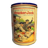 Cracker Jack 1990 Baseball Round Canister Tin