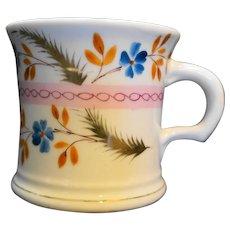 Hand Painted Floral Shaving Mug Porcelain