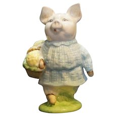 Royal Doulton Beswick Beatrix Potter Little Pig Robinson BP3b Brown Mark 1974-85