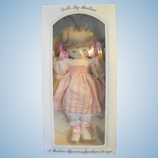 "Pauline Bjonness Jacobsen Dorothy Cloth Doll 19"" NIB Pink Floral Dress"