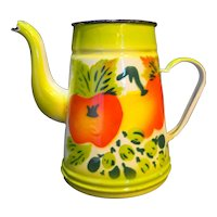 Fruit Enamel Painted Coffee Pot No Lid