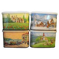 General Foods International Coffee Art Tins Set of 4