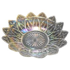 Federal Glass Petal Iridescent Bowl 8 IN