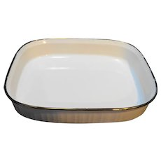 Corning Ware French White Gold Trim Lasagna Pan 4.5L F-21-B