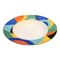 Victoria Beale Accents Rimmed Soup Bowl