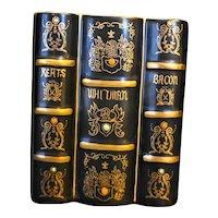 Lenwile Ardalt Japan Books Vase Pencil Holder Poetry Keats Whitman Bacon