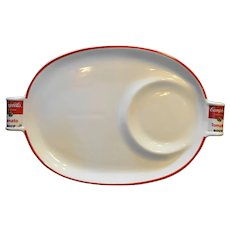 Campbell's Tomato Soup Oval Snack Plate Tray 1994