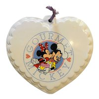 Gourmet Mickey Heart Trivet Plaque Wall Hanging Treasure Craft