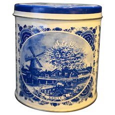 Agro Delfts Blue 603 Tin Canister Small Windmills