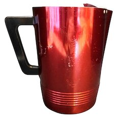 Regal Aluminum Dark Red Anodized Aluminum Pitcher