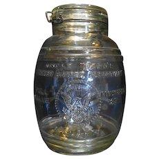 Uncle Ezra Cracker Barrel Assortment 4 Quarts Clear Glass
