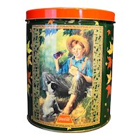 Norman Rockwell Coca-Cola Tin With Puzzle Barefoot Boy