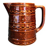Marcrest Brown Daisy Dot Pitcher 6 IN