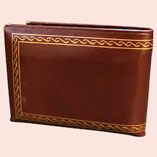 Cabretta Leather Bifold Wallet Gold Detailed