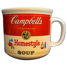 Campbell's Homestyle Soup Mug Red White Westwood 1989