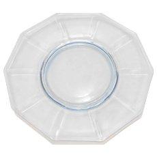 Cambridge Decagon Light Blue Luncheon Plate 8 IN Depression