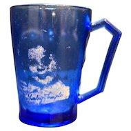 Shirley Temple Mug Hazel Atlas Ritz Blue Depression Glass