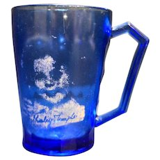 Shirley Temple Mug Hazel Atlas Ritz Blue Depression Glass