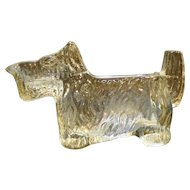LE Smith Scottie Dog Creamer Candy Clear Glass