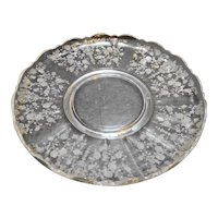 Cambridge Rose Point Torte Plate Rolled Edge 14 IN