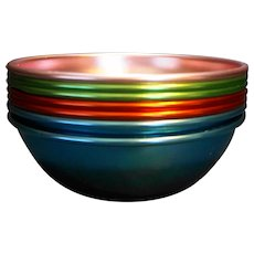 Bascal Aluminum Colorful Bowls Set of 8
