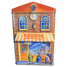 Nestle Bakery Candy Shop Book Loft Ice Creamery Tin