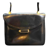 Koret Black Leather Red Leather Lining Convertible Purse Handbag Shoulder
