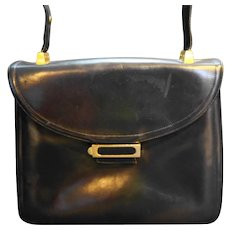 Koret Black Leather Red Leather Lining Convertible Purse Handbag Shoulder